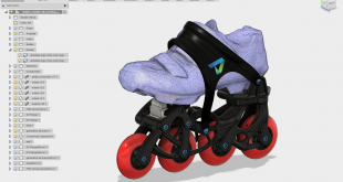 Autodesk and Stratasys Collaborate on Generatively Optimized 3D Printed Rollerblades