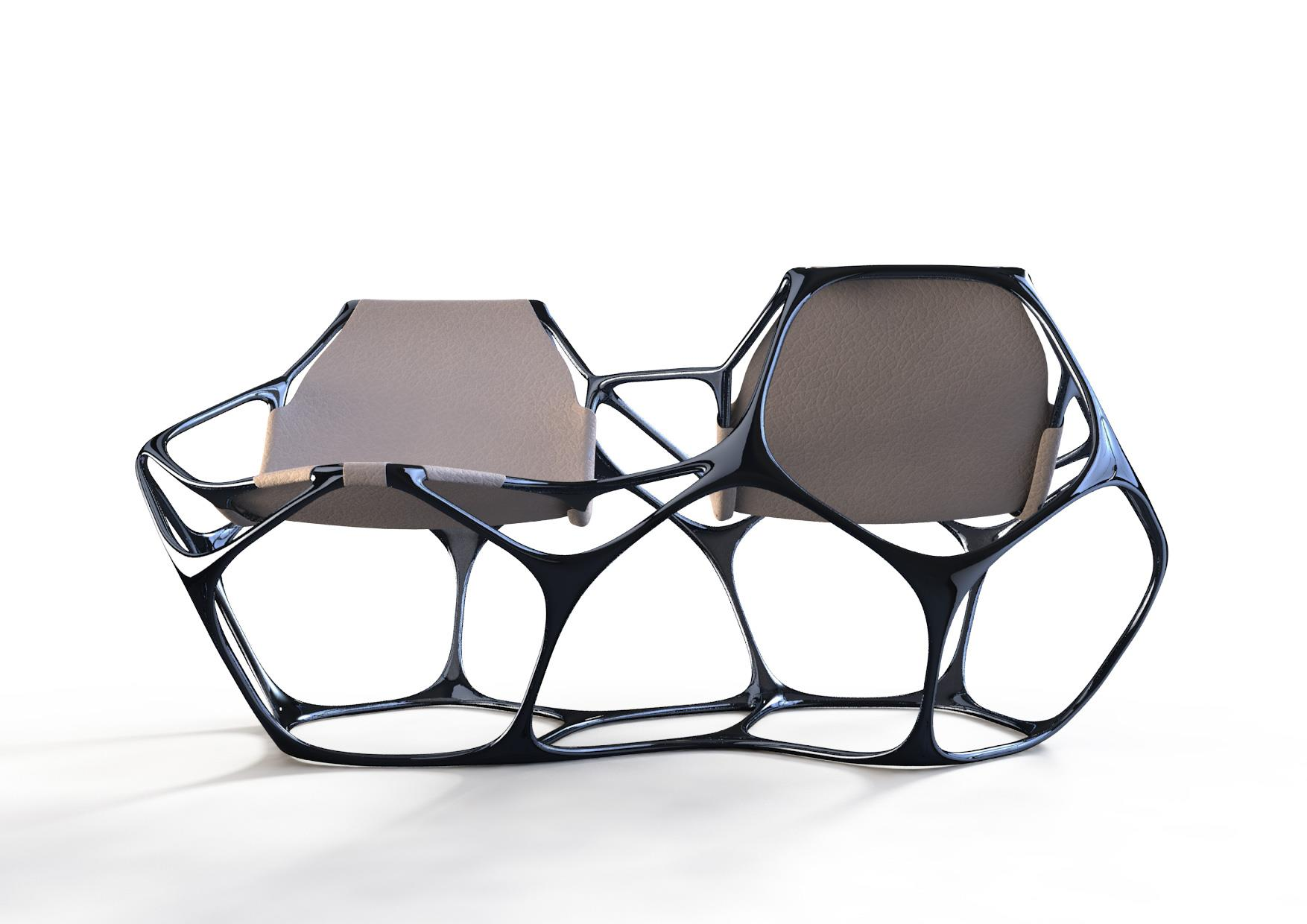 More furniture 3D printing by Peter Donders