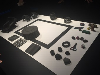 Some of the objects 3D printed using MJF technology by HP, including elastomers and multicolor
