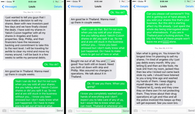 lewis yakich text selling shares