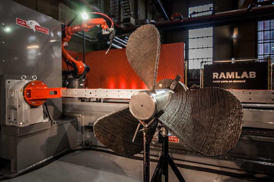 Port of Rotterdam — A ship's propeller created for the project using the new 'hybrid manufacturing' technique will be displayed at the Autodesk stand at Hannover Messe on 24-28 April
