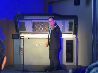 HP 3D Printing's Alex Monino unveils the HP Multi Jet 3D Printer