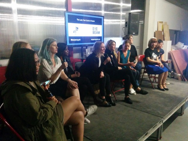 The Lady Tech Guild's panel discussion at the Eyebeam Center