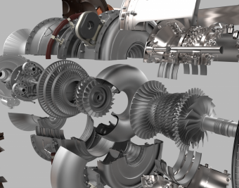 GE's advanced turboprop engine will have a number of 3D-printed parts. The engine will burn up to 20 percent less fuel and achieve 10 percent more power than other engines in the same class. Image credit: GE Aviation