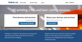 ToolHubs - Find 3D printing, CNC and laser cutting services