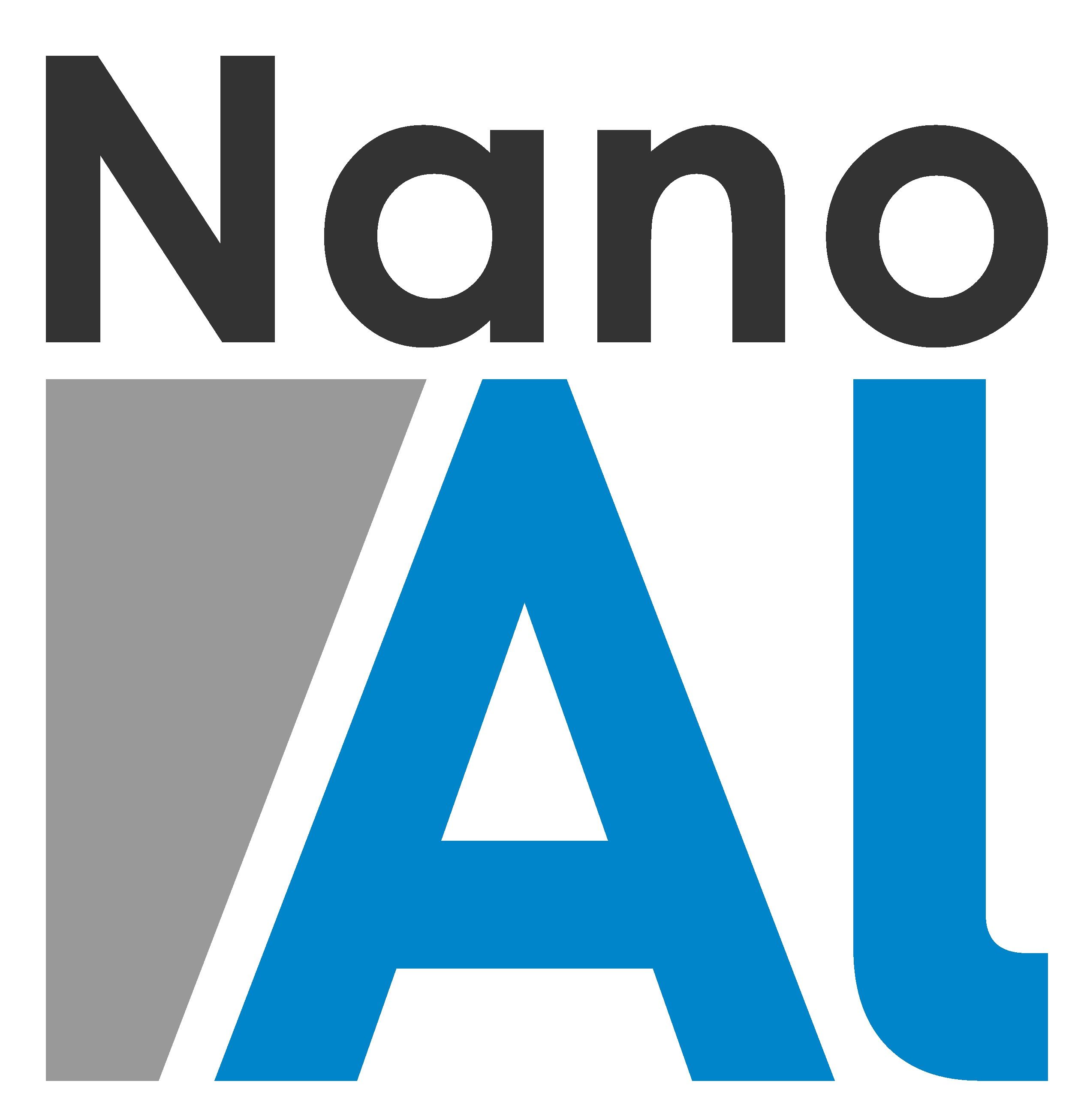 NanoAl Square Logo for Light Backgrounds – White Background